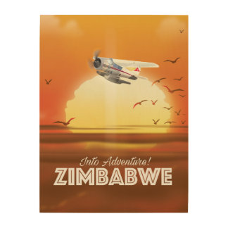 Into Adventure! Zimbabwe travel poster