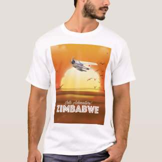 Into Adventure! Zimbabwe travel poster T-Shirt