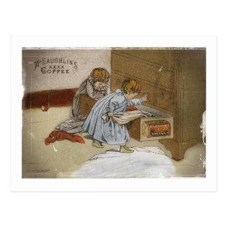 Into Mischief Kids McLaughlin Coffee Postcard