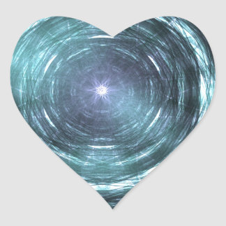 Into the black hole heart sticker