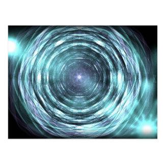 Into the black hole postcard