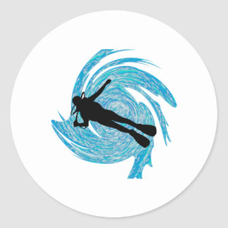 Into the Blue Classic Round Sticker
