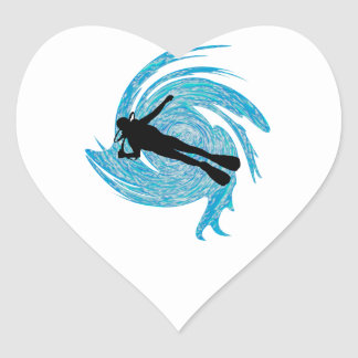 Into the Blue Heart Sticker