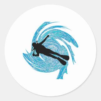 Into the Blue Round Sticker