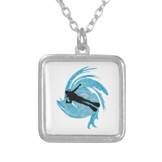 Into the Blue Silver Plated Necklace