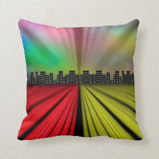 Into the City at Night Cushion