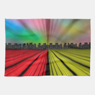 Into the City at Night Tea Towel