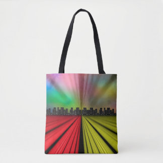 Into the City at Night Tote Bag