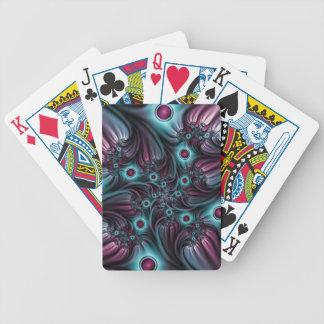Into the Depth Blue Pink Abstract Fractal Art Bicycle Playing Cards
