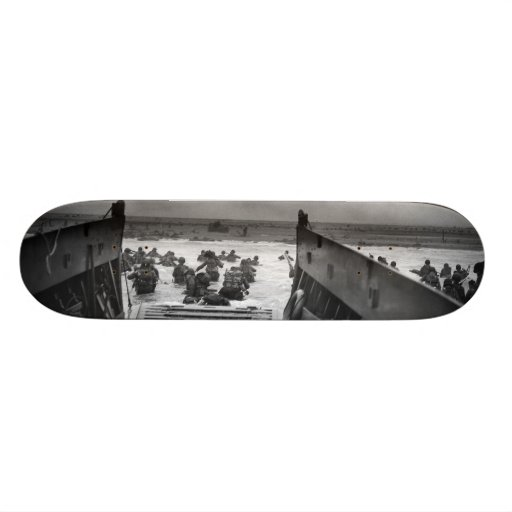 Into The Jaws Of Death LCVP World War II Omaha Skate Board