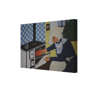 into the kitchen canvas print