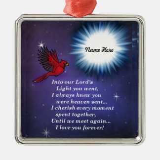 Into the light cardinal Silver-Colored square decoration
