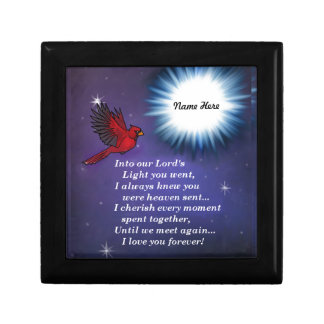 Into the light cardinal small square gift box