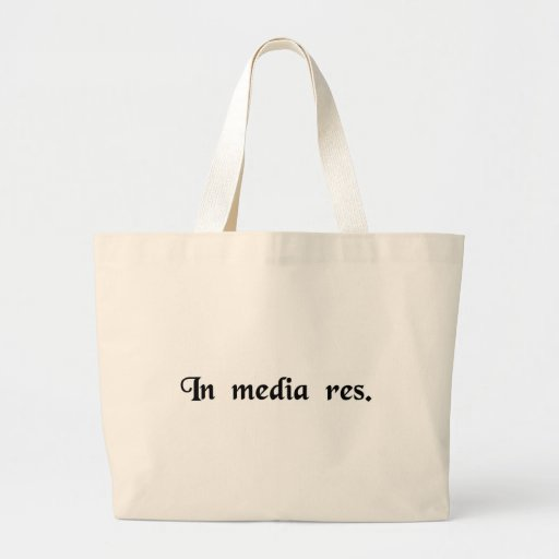 Into the middle events canvas bag