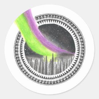 Into the night classic round sticker