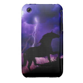 Into the Storm Horse Blackberry Curve Case Cover iPhone 3 Case-Mate Case