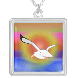 Into The Sunset Square Pendant Necklace