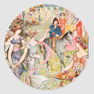 Into the Vale of Pleasure - Fairytale Classic Round Sticker