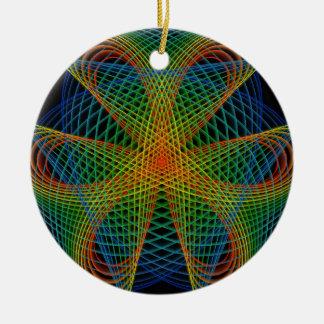 into the Web Ceramic Ornament