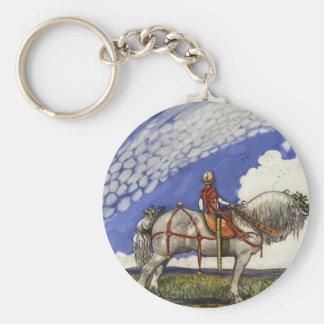 Into the Wide Wide World Basic Round Button Key Ring