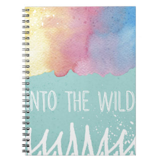 Into the Wild - Boho Watercolor Wanderlust Spiral Note Books