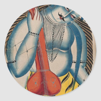 Intoxicated Shiva Holding Lamb Classic Round Sticker