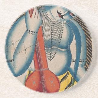 Intoxicated Shiva Holding Lamb Coaster