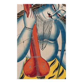Intoxicated Shiva Holding Lamb Stationery