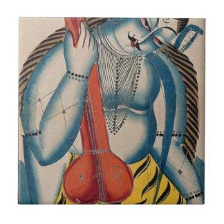 Intoxicated Shiva Holding Lamb Tile