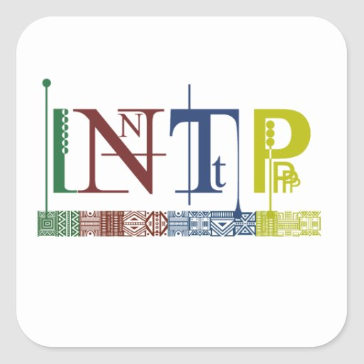 INTP Logo - Myers-Briggs Name Tag/Sticker