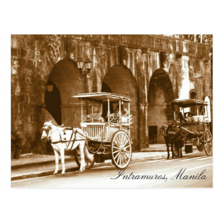 Intramuros Tourist spot Philippines Postcard
