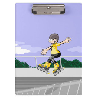 Intrepid skate on wheels young jumping clipboard