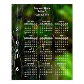 Intricacy Custom 2016 Business Calendar Poster