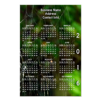 Intricacy Custom 2016 Business Promo Calendar Poster
