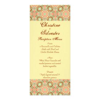 Intricate Arabesque menu and program Rack Card