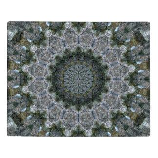 Intricate Blue and Grey Mandala Acrylic Jigsaw Puzzle