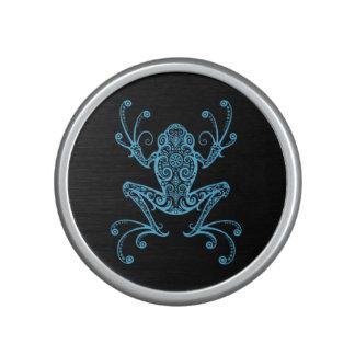 Intricate Blue Tree Frog Bluetooth Speaker