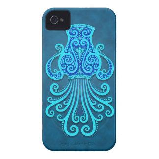 Intricate Blue Tribal Aquarius iPhone 4 Case-Mate Case