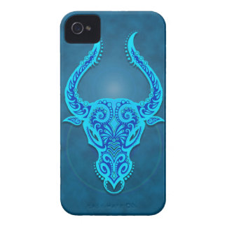 Intricate Blue Tribal Taurus iPhone 4 Covers