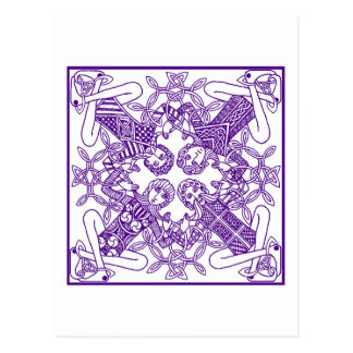 Intricate Celtic Knot Interconnected Symbolism Postcard