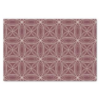 Intricate Circles Tissue Paper – Cream & Dark Red