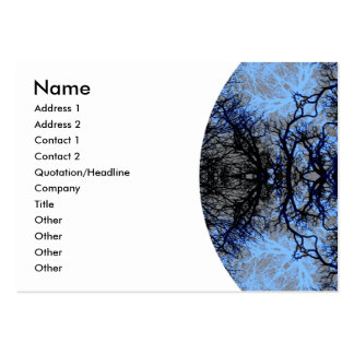 Intricate Decorative design. Black & Blue. Pack Of Chubby Business Cards