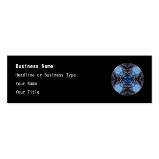 Intricate Decorative design. Black & Blue. Pack Of Skinny Business Cards