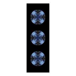 Intricate Decorative design. Black & Blue. Pack Of Skinny Business Cards