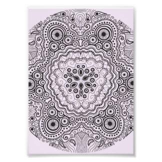 Intricate Doily Pattern on Pink Photo Print