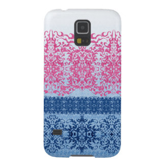 Intricate Fleur De Lis in Pink and Blue Case For Galaxy S5
