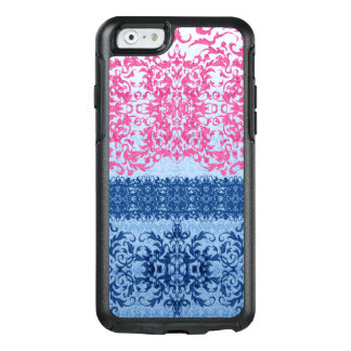 Intricate Fleur De Lis in Pink and Blue OtterBox iPhone 6/6s Case