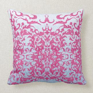 Intricate Fleur De Lis in Pink Cushion