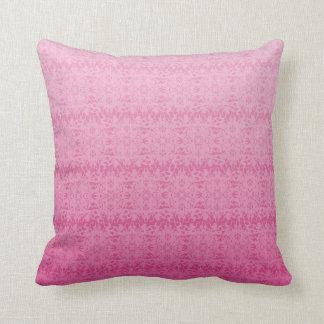 Intricate Fleur De Lis Texture in Pink Cushion