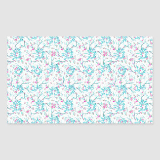 Intricate Floral Collage Rectangular Sticker
